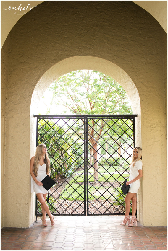 Taylor and Gabby's Senior portraits at Rollins College in Winter Park Florida with Rachel V Photography