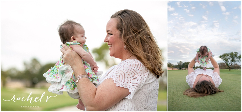 Harkins family golf course family session with Rachel V Photography in Orlando, FL