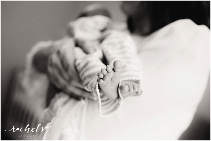 Baby Michael's Home newborn session in Maitland, Florida with Rachel V Photography