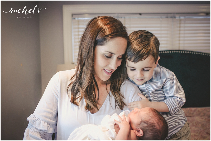 Home Newborn session in Maitland Florida with Rachel V Photography