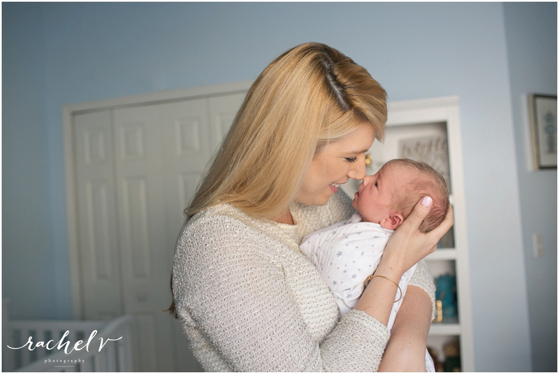 Home Lifestyle Newborn Session In Winter Springs Florida with Rachel V Photography