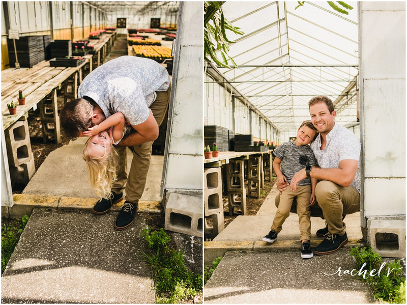 Evan's Family portraits at Florida cactus in apopka Florida with Rachel V Photography