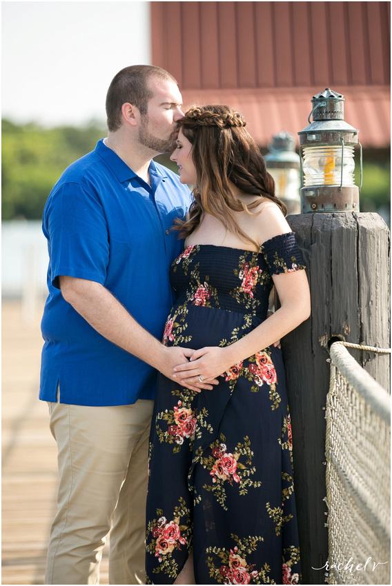 Maternity photos at Disney's Polynesian resort with Rachel V Photography