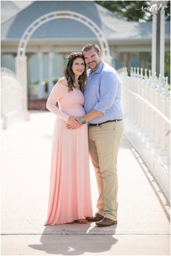Maternity Photos at Disney's Wedding Pavilion with Rachel V Photography