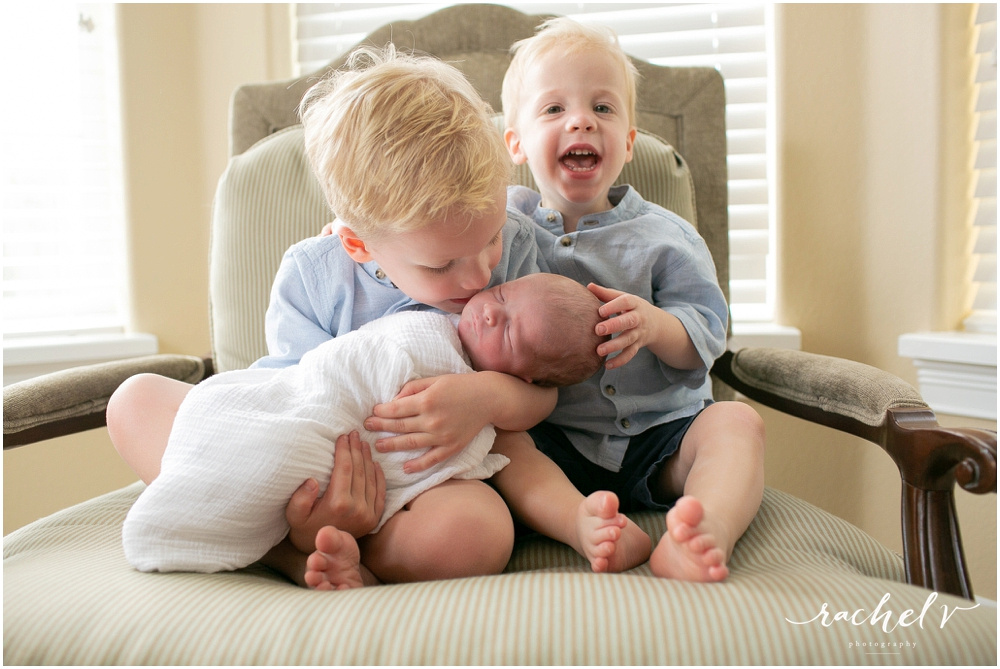 Lifestyle Newborn session in College Park Florida with Rachel V Photography