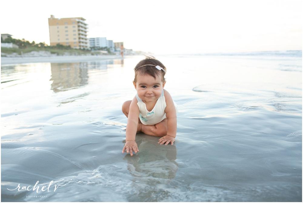 First Birthday Portraits at New Smyrna Beach Florida with Rachel V Photography