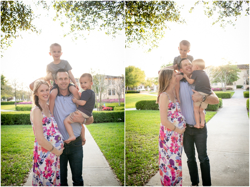 Rollins College Maternity session with Rachel V Photography in Winter Park, Florida