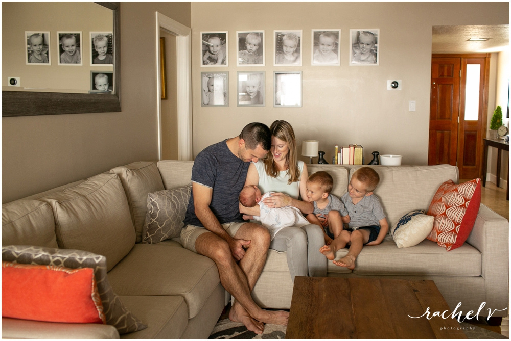Lifestyle newborn session in Maitland, Florida with Orlando newborn photographer Rachel V Photography