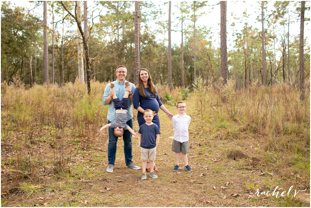 Family Maternity Session in Wekiva Springs With Rachel V Photography