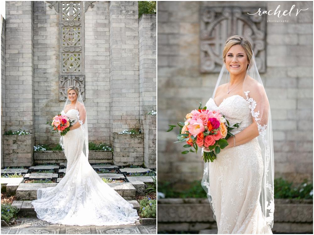 First Look Maitland Art Center Wedding with Rachel V Photography in Maitland Florida