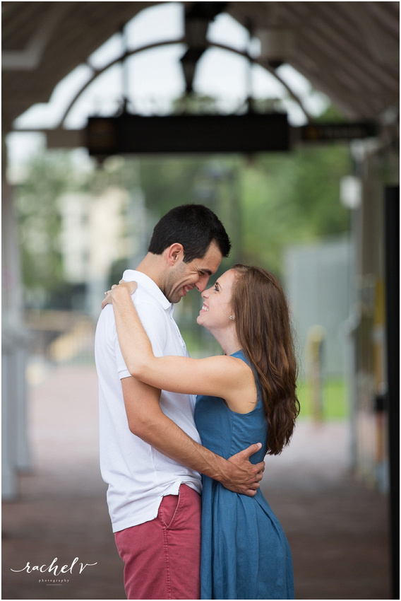 Rainy summer engagement shoot in Winter park Florida