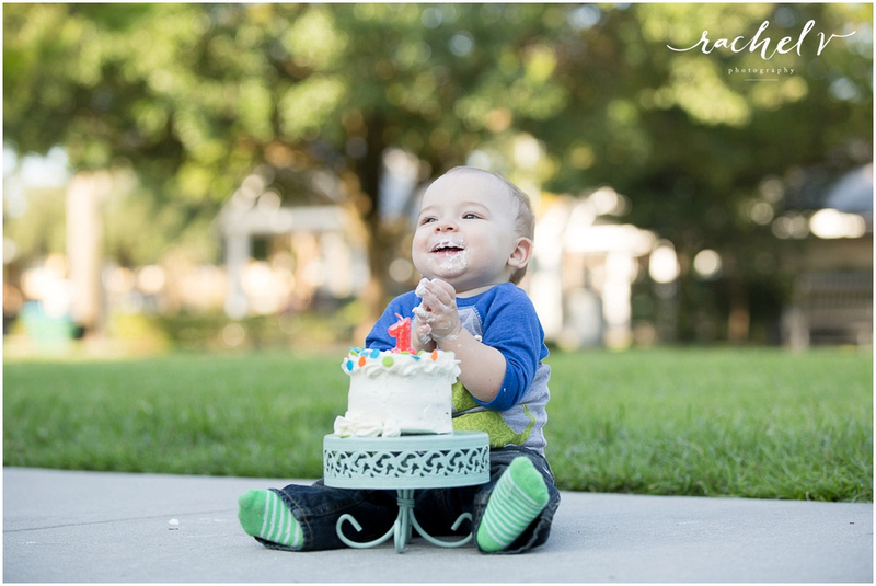 First Birthday shoot in Winter Park, Florida with Rachel V Photography
