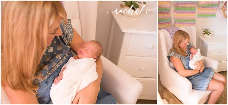 2 week old home newborn session with Rachel V Photography
