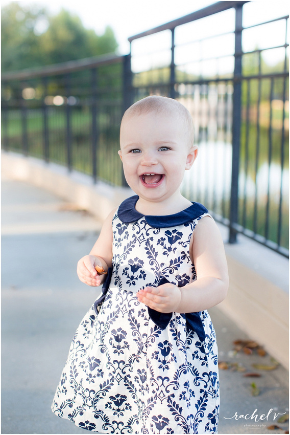 Isabelle's 1 year portrait session in Baldwin park, Orlando, Florida with Rachel V Photography