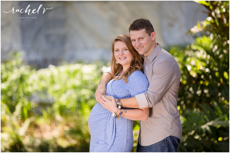 Kristina of Love and Zest's Maternity shoot at Bok Tower Gardens with Rachel V Photography