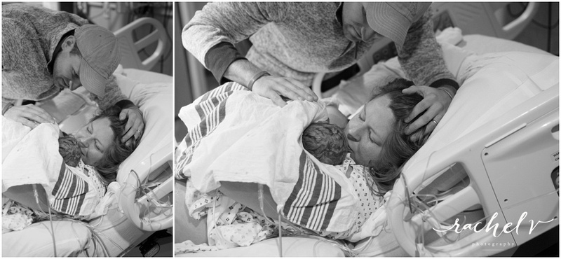 Parker's Birth at Florida Hospital South in Orlando, Florida with Rachel V Photography