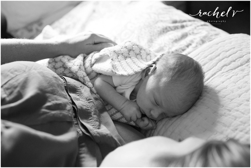 Home Newborn Session in Winter Park, Florida for Kristina with Love and Zest by Rachel V Photography