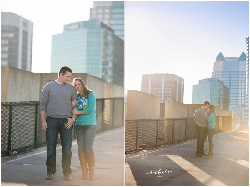 Downtown Orlando, Rooftop, Skyline Sunset, Engagement Session