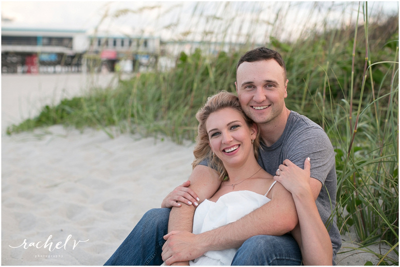 Cocoa Beach Pier Proposal and Engagement, Cocoa Beach, FL with Rachel V Photography