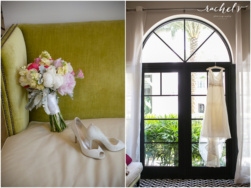 Bride Getting ready at Alfond Inn, Winter Park , Florida with Rachel V Photography