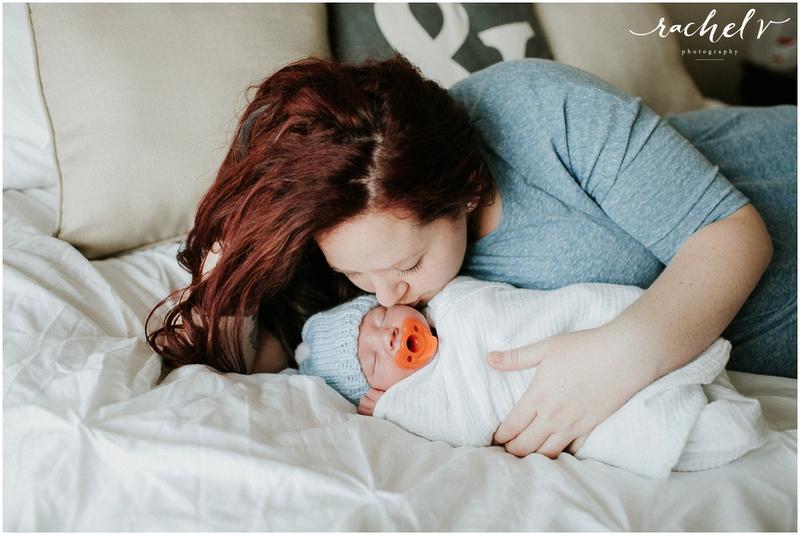 Melissa Creates home lifestyle Newborn session with Rachel V Photography