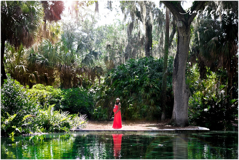 Bok Tower Gardens Maternity Session in Lake Wales Florida with Rachel V Photography