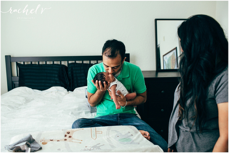 Lifestyle Newborn Session with Rachel V Photography in Orlando, Florida