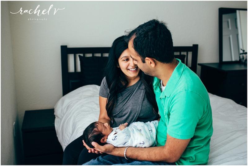 Lifestyle Newborn Session with Rachel V Photography in Orlando, Florida