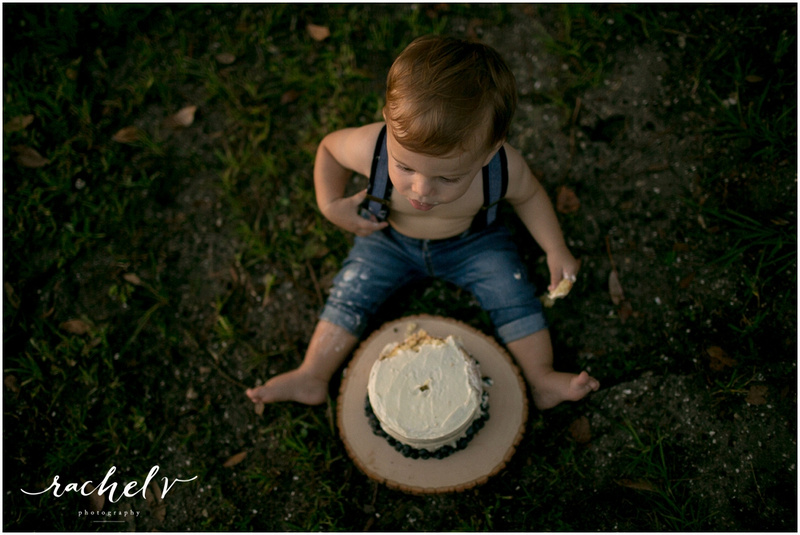 Lost Boy themed first birthday cake smash in Winter Park Florida with Rachel V Photography