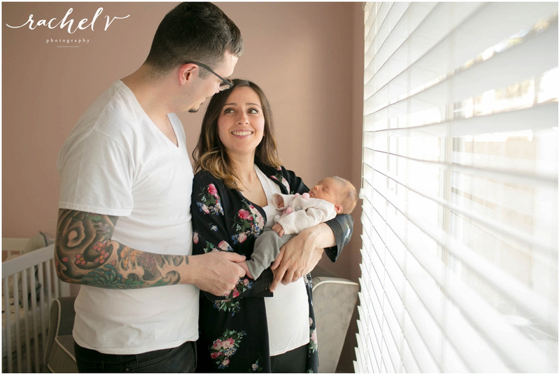Home Newborn session with Mona of Merci Bakery in Winter Springs Florida with Rachel V Photography