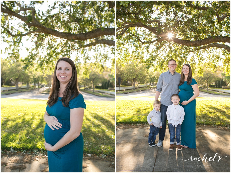 Spring Morning Maternity Session in Baldwin Park with Rachel V Photography