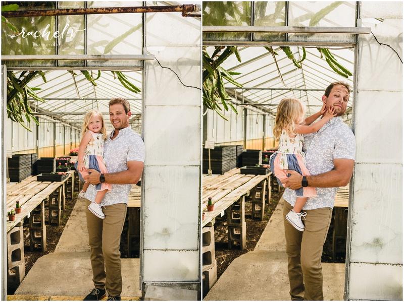 Evan's Family portraits at Florida cactus in apopka Florida with Rachel V Photography