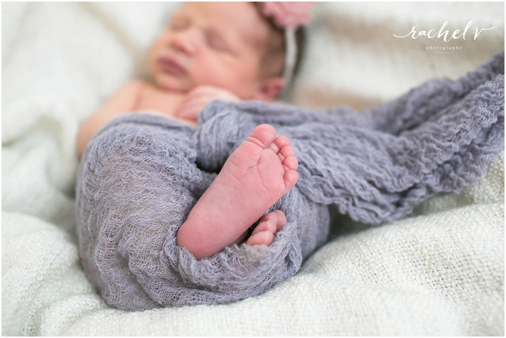 Torres home newborn session in Winter Park Florida with Rachel V Photography