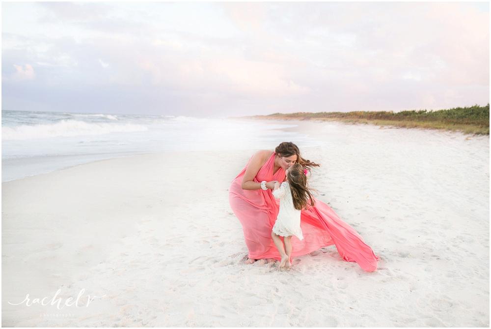 Sunset seaside Maternity session at Sebastian Inlet State Park, Florida with Rachel V Photography