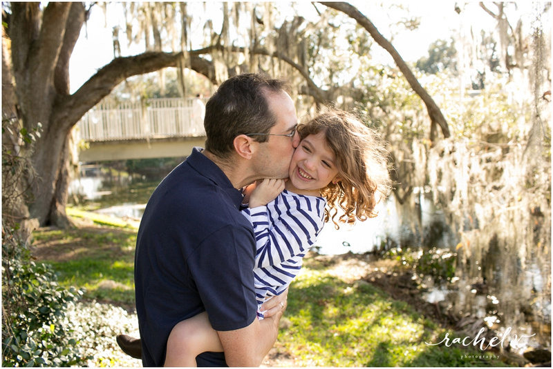 Family session at Loch Haven Park in Orlando Florida with Rachel V Photography
