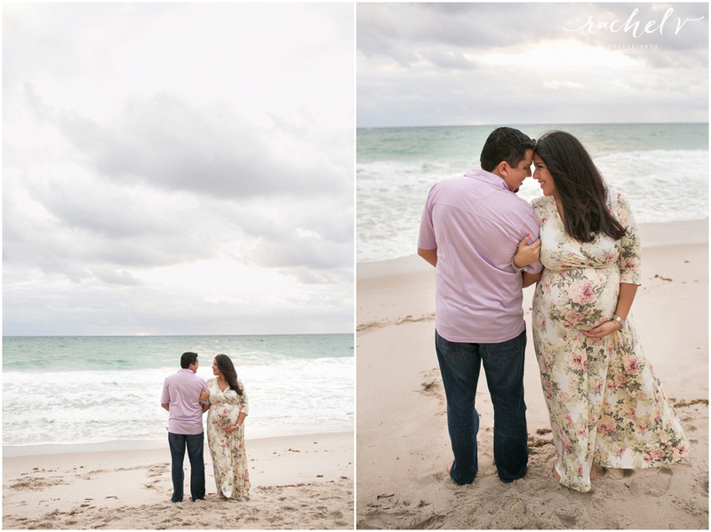 Ft, lauderdale sunrise beach maternity session with Florida Photographer Rachel V Photography