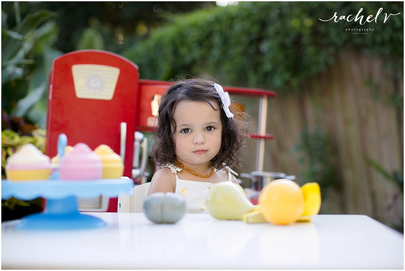 Evangeline turns two, backyard play portrait session with Rachel V Photography in Maitland, Florida