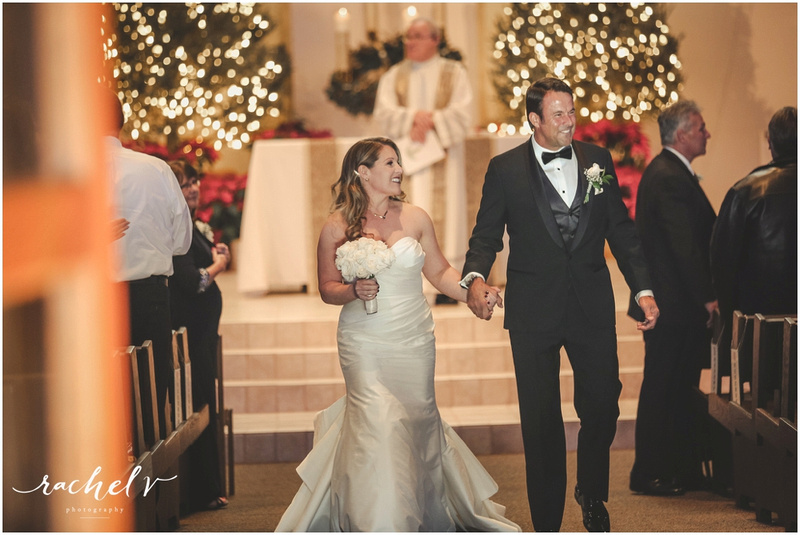 Kelley-Bibeau Wedding at St. Margaret Mary Catholic Church in Winter Park Florida with Rachel V Photography