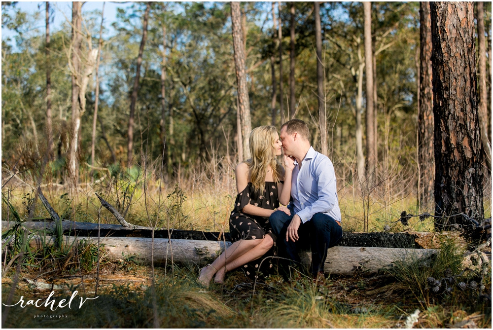 Sunrise Engagement shoot at Wekiva Springs, Florida with Rachel V Photography