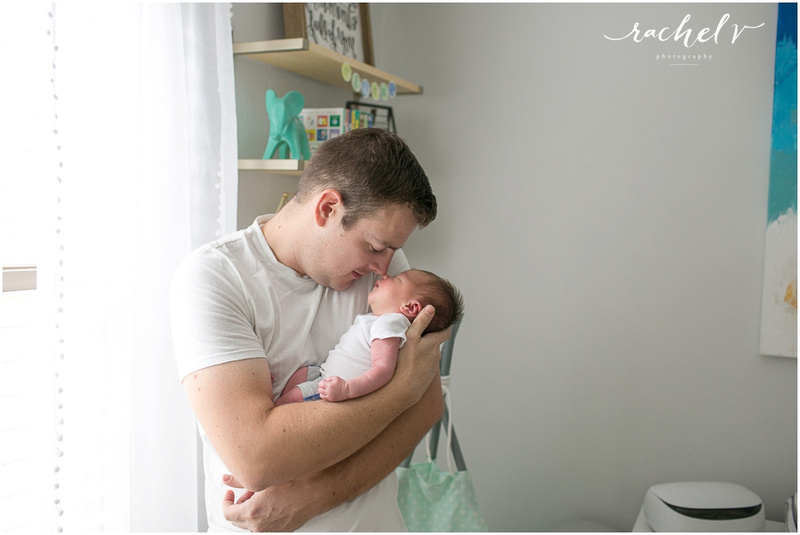 Home newborn shoot with Elizabeth of Within the Grove, photographed by Rachel V Photography in Casselberry Florida