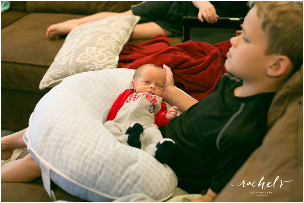Identical twin newborn session with Rachel V Photography in Maitland, FL