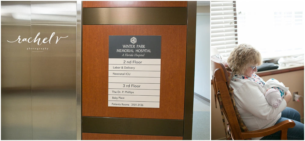 Rishel Fresh 48 Session at Winter Park Memorial Hospital in Winter Park, Florida with Rachel V Photography