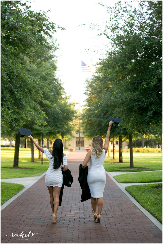 Samantha and Gabby's Senior portraits at Rollins College in Winter Park Florida with Rachel V Photography